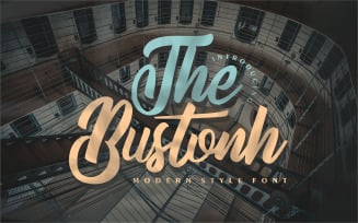 The Bustonh | Modern Style Font