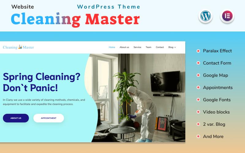 Cleaning Master - Website Elementor Wordpress Theme