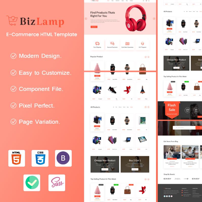 Bizlamp - Multipurpose eCommerce HTML