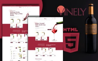 Vinely - Wine Shop HTML Website Template