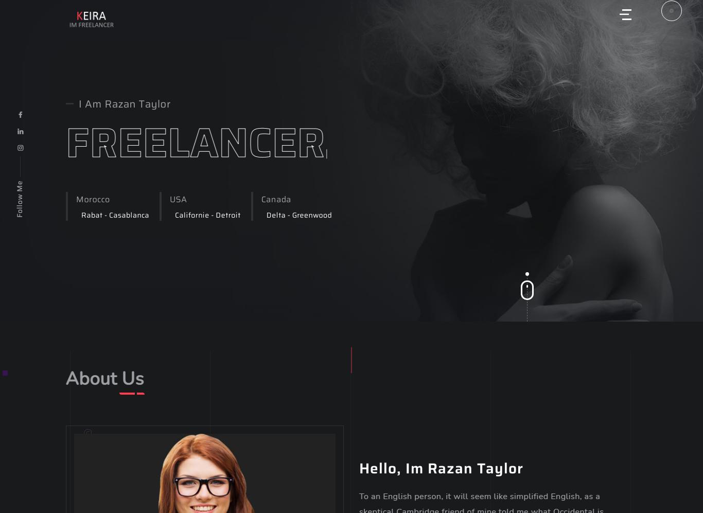 Keira - Personal Portfolio WordPress Theme