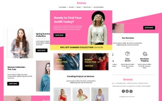 Emma – Multipurpose Fashion Responsive Email Newsletter Template