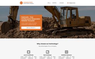 Fabricatio - Free Responsive Joomla Landing Page Template