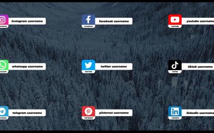 Social Media Lower Thirds For Premiere Pro Mogrt Premiere Pro Template