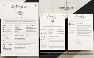 Delbert CV Printable Resume Templates