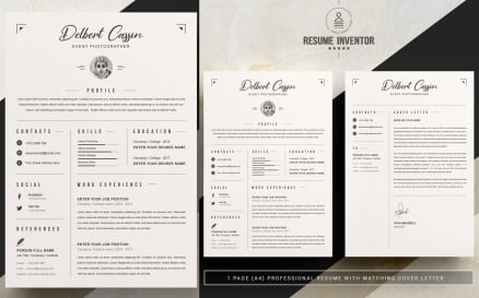 Delbert CV Printable Resume Templates