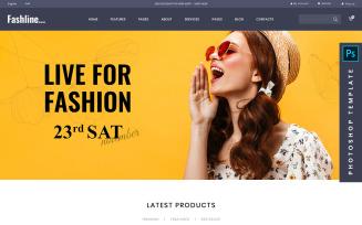 Fashline - Fashion eCommerce PSD Template