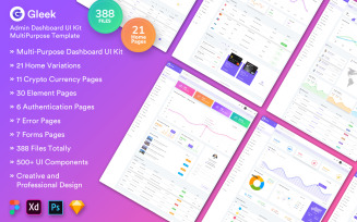 Gleek Admin Dashboard Web UI Kit MultiPurpose