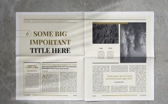 Newspaper Indesign Magazine Template