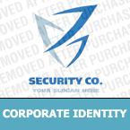 Security Corporate Identity Template 17808