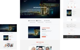 ARCHS - INTERIOR DESIGN Elementor Page Template