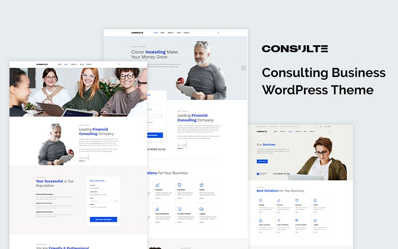 Consulte - Consulting Business FREE WordPress Theme