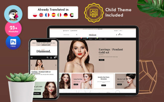 Diamond – Jewelry Imitation Store Multipurpose PrestaShop Theme