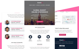 EventLo - Multipurpose Event & Conference Email Template Responsive Newsletter template