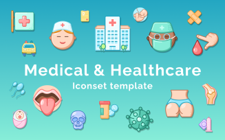 Medical and Healthcare Iconset Template