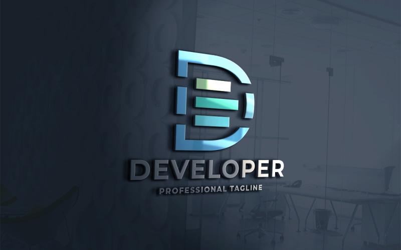 Ontwikkeling Letter D Logo sjabloon