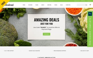 Retailreel- Free eCommerce PSD Template