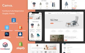 Canva - Modern Furniture Shopify Template