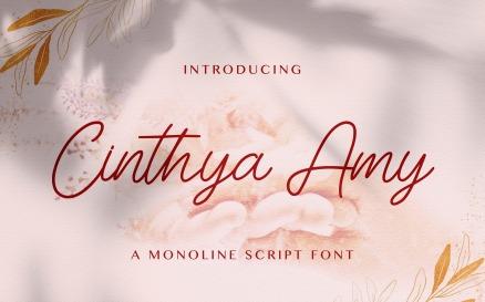 Cinthya Amy - Handwritten Font