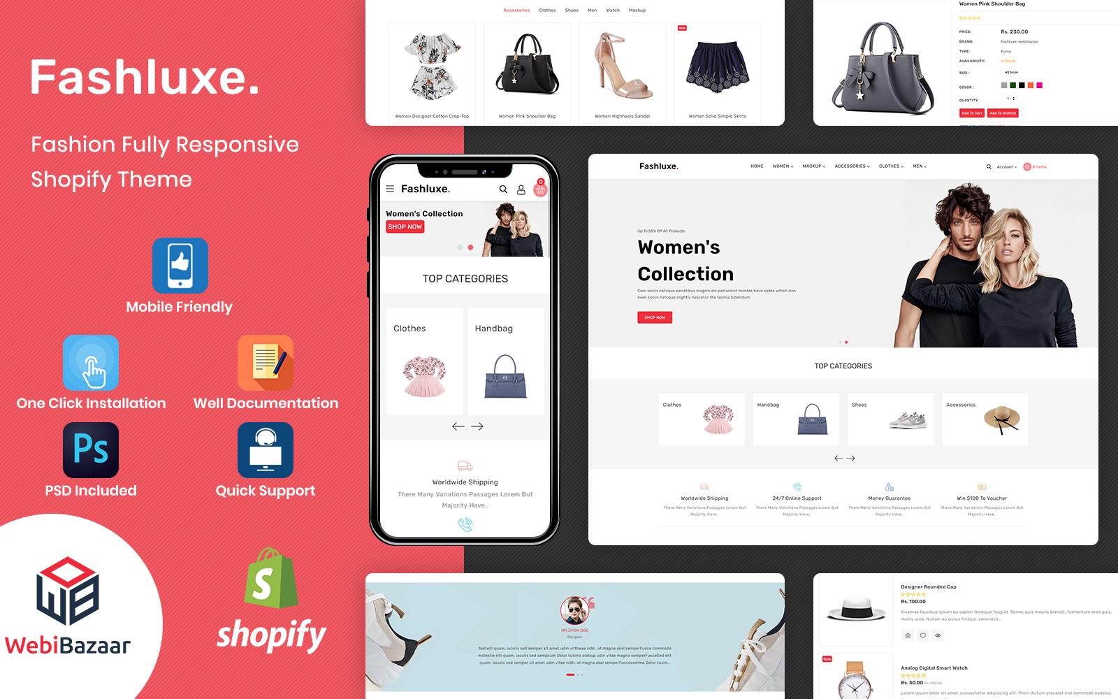Fashluxe - Shopify-sjabloon voor moderne mode