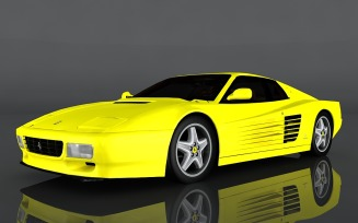 Ferrari 512 3D Model