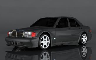 Mercedes-Benz 190E 3D Model