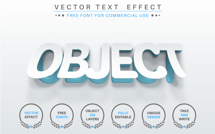 Slice White Paper - Editable Text Effect, Font Style Graphic Illustration