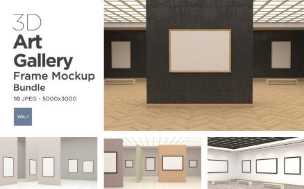 Art Gallery Frames Mockup Vol-1 Product Mockup