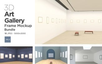 Art Gallery Frames Mockup Vol-3 Product Mockup