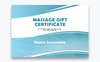 Free Classic Massage Gift Certificate Template
