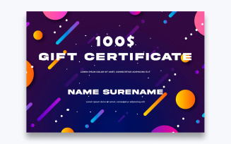 Free Modern Gift Certificate Template