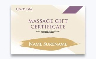 Free Modern Massage Gift Certificate Template