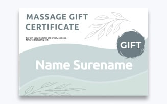 Free Stylish Massage Gift Certificate Template