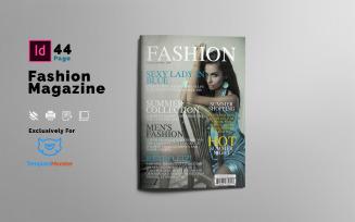 Summer Fashion Magazine Template