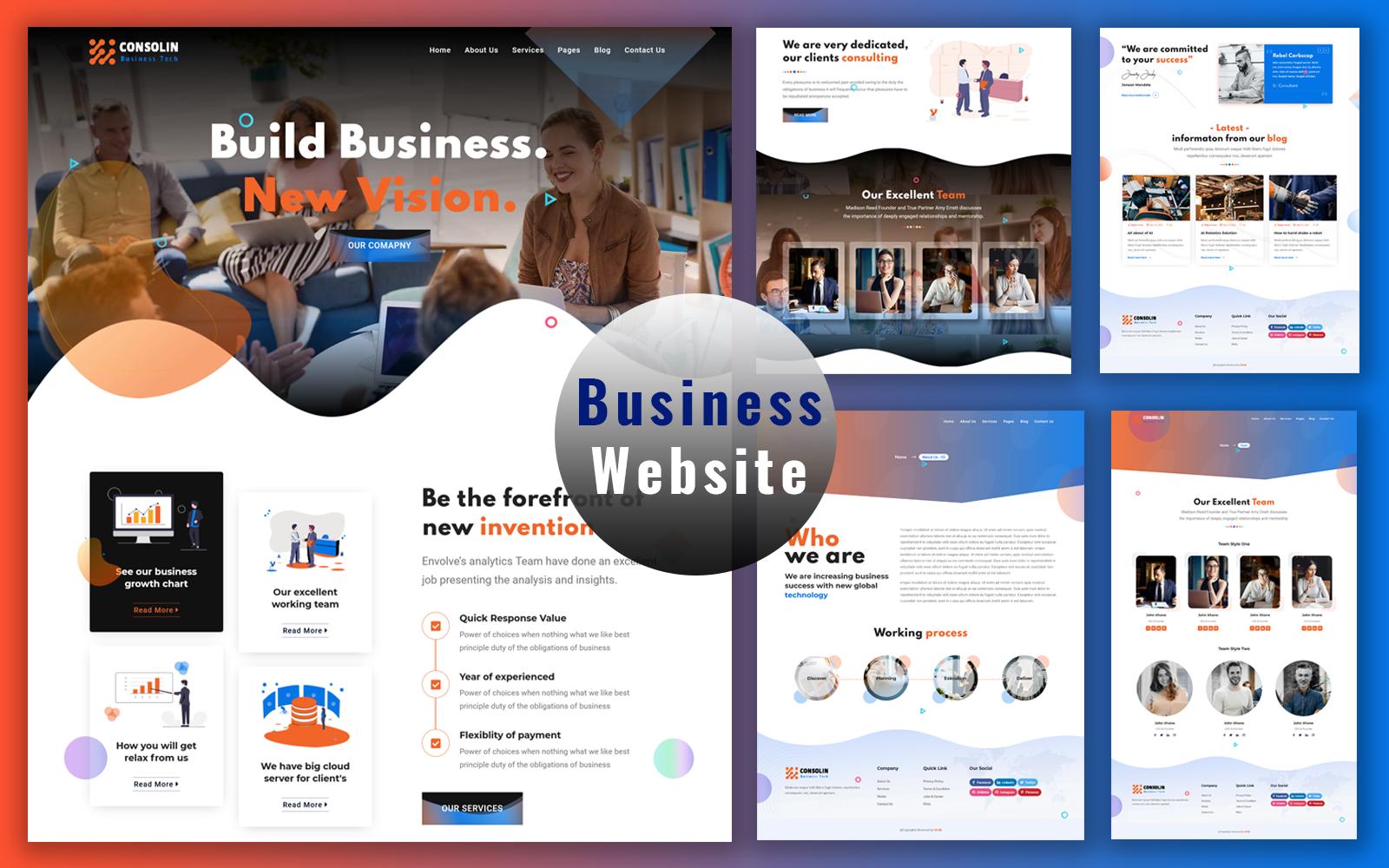 Consolin - Corporate Business Website Template