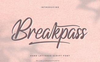Breakpass Fonts