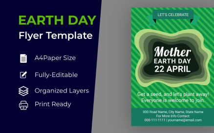 Earth & Environment Day Brochure Design Corporate identity template Corporate Identity