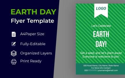 Happy Earth Day Flyer Design Corporate identity template Corporate Identity