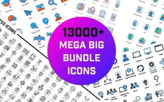 13000+ Mega Big Bundle Iconset template