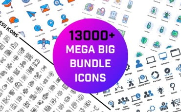 13000+ Mega Big Bundle Iconset template