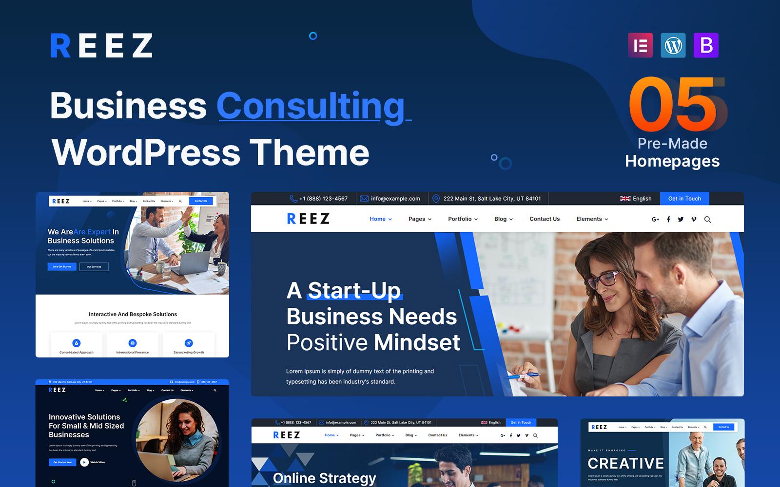 Reez - Üzleti tanácsadás WordPress téma