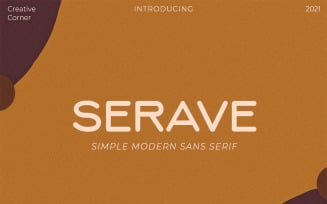 Serave - Soft Rounded Typeface Fonts