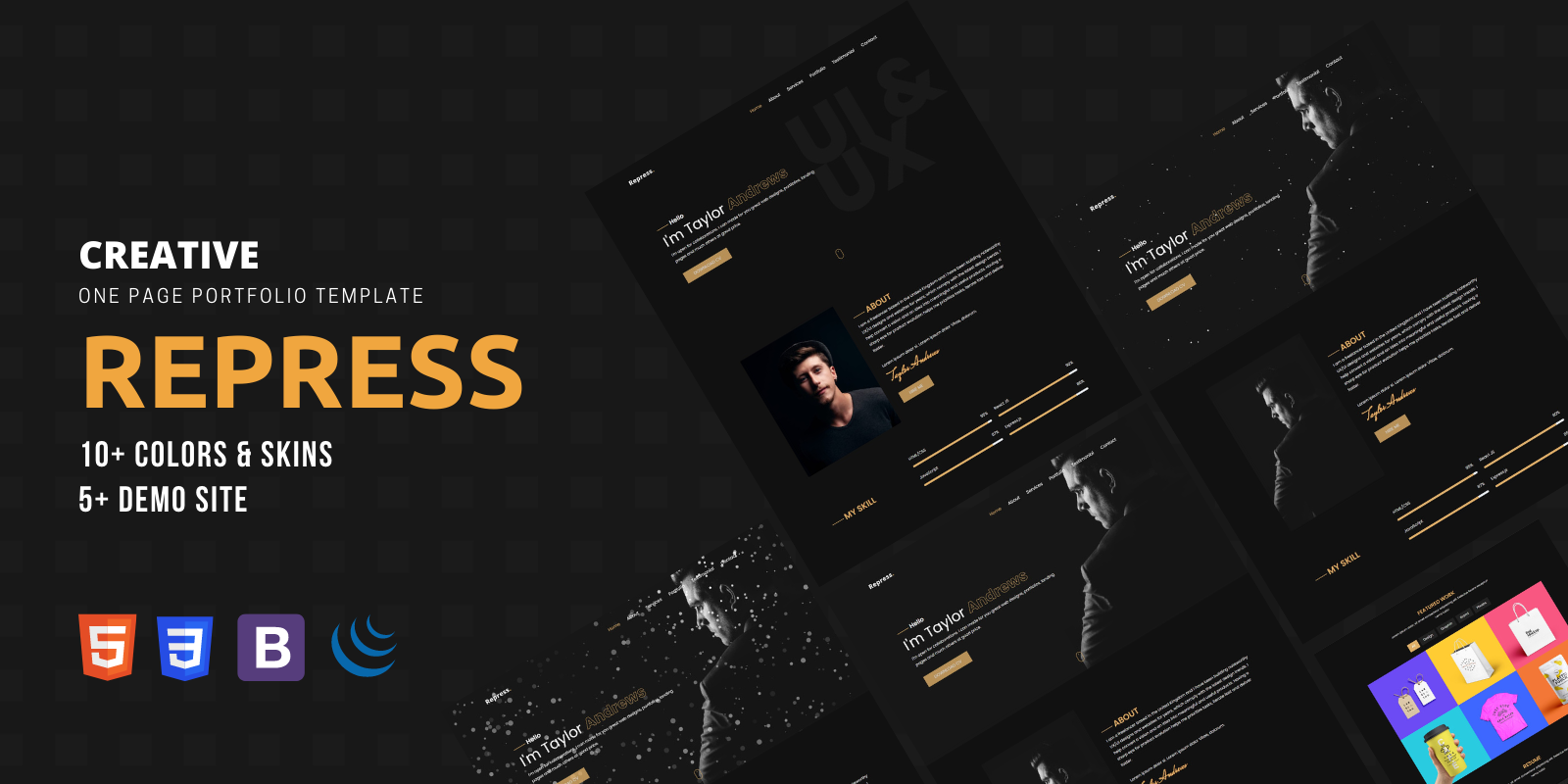 Repress  - A Onepage Portfolio Template