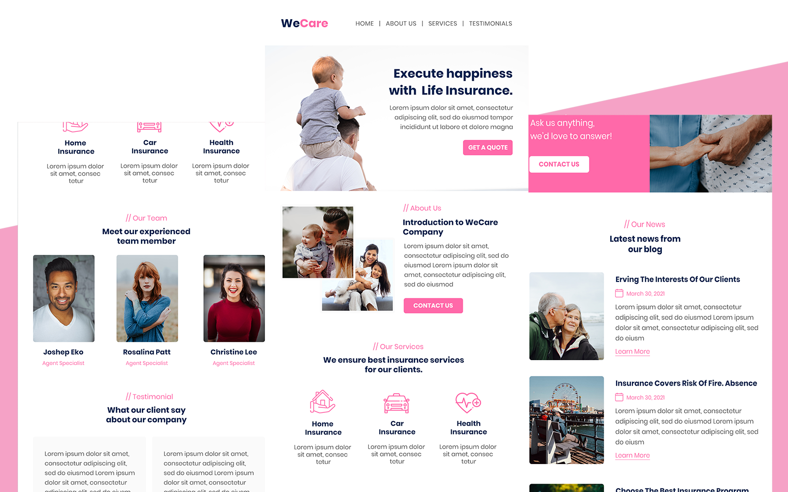 WeCare– Multipurpose Insurance Responsive Email Newsletter Template