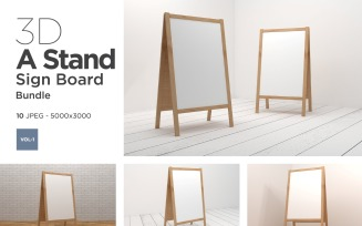 A Stand Advertising Sign Board Vol-1 Product Mockup