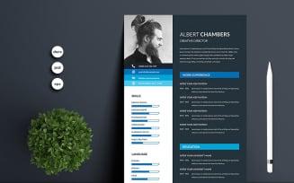 Albert Chambers Premium Printable Resume Templates