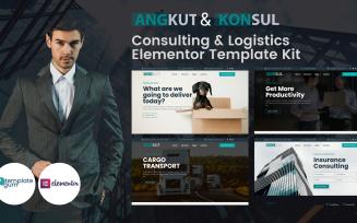 Angkut & Konsul - Logistics & Consulting Elementor Kit