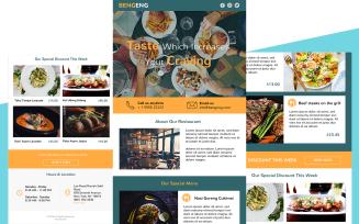 Bengeng – Multipurpose Restaurant Responsive Email Newsletter Template