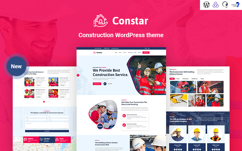 Constar - Constructie-responsief WordPress-thema