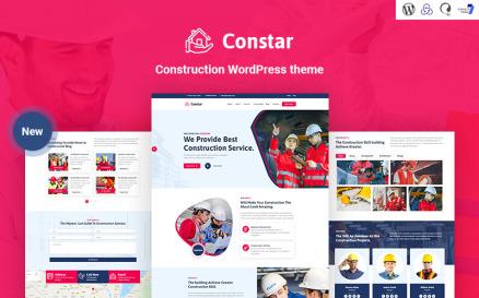 Constar - Construction Responsive WordPress theme WordPress Theme
